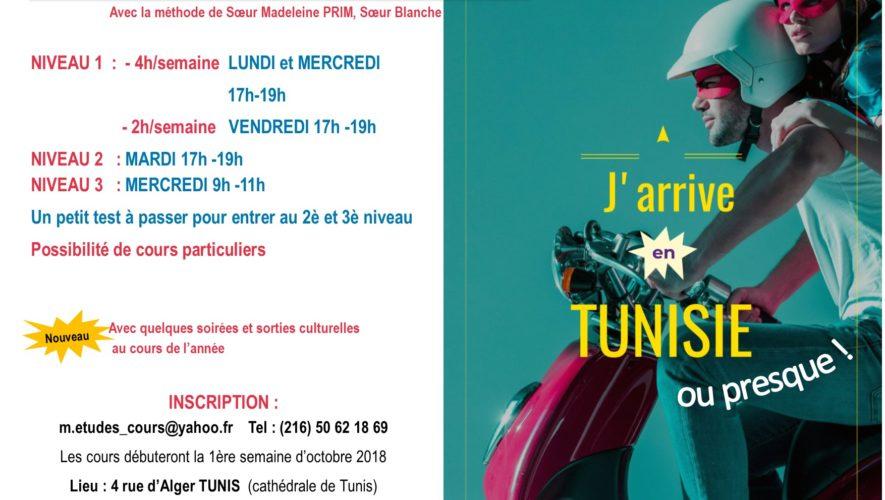cours d'arabe tunisien 2018-2019